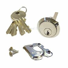 YALE TYPE NIGHT LATCH DOOR LOCK QUALITY STANDARD CHROME REPLACEMENT RIM CYLINDER