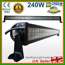 BARRA LUMINOSA A LED CREE 240w SPOT FLOOD lavoro lampada 4x4 SUV di Recupero Camion Pick-up
