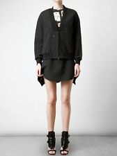 3.1 Phillip Lim $575 Black Jacquard Cotton Blend Zip Bomber Jacket 4