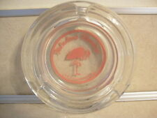 Vintage Advertising Glass Ashtray Fabulous Flamingo Iconic Pink Las Vegas Nevada