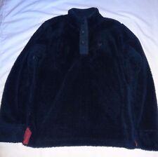 CREW CLOTHING Women's Navy Fluffy Half Button Sweatshirt Size UK 12