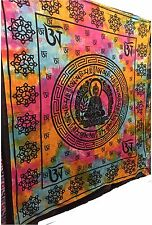 Large Indian Wall Hanging Meditation Buddha Tapestry Chakra Boho Decor Throw