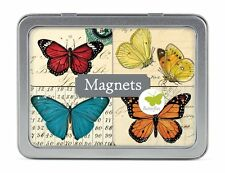 Cavallini BUTTERFLIES MAGNETS set of 24 in Tin MAGBTR beautiful butterfly magnet
