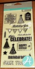 CLEAR ACRYLIC HAMPTON ART STAMPS BIRTHDAY~ Let's Celebrate,Your Day wksCTMH blk