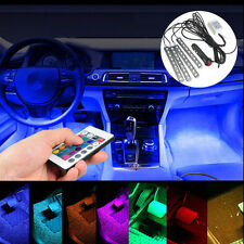 4x RGB Remote Control Auto 9LED Strip Interior Underdash Floor Atmosphere Light