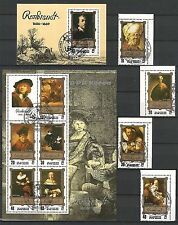 Korea 1983 Rembrandt Paintings Gemälde complette Set Satz Ersttagsstempel Rar