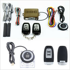 8X Car Truck Engine Start Button Security System Key Passive Remote Alarming Kit