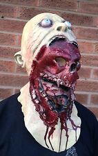 Zombie Skull Full Head & Chest Latex Mask Deluxe Fancy Dress Halloween Demon