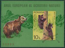 Rumänien 1980 Mi.Block 168 ESST Naturschutzjahr,Braunbär,Ursus Arctos,Europa