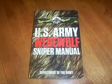 U. S. ARMY WEREWOLF SNIPER Werewolves Military Comedy Snipers Combat Book NEW