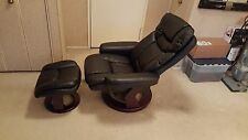 Black Recliner Chair with Ottoman