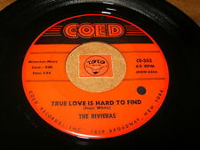 THE RIVIERAS - TRUE LOVE IS HARD TO FIND - COUNT EVERY- LISTEN - DOO WOP POPCORN