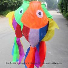 70cm 3D Kites Cute Fish-type Kite Fly Tail Kite Ripstop Sail Accessory P2W5