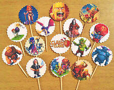 "15- 1.5"" CLASH OF CLANS CUPCAKE TOPPERS birthday party favors! Food Safe no glue"