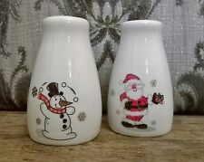 Christmas Salt & Pepper Pots/Shakers. Santa & Snowman. Kitchen Dining Novelty
