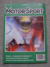 Motor Sport (Dec 1991) Mercedes 300SL-24, Clio Elf UK test,Japan & Australia GPs