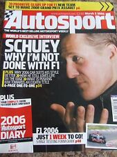 AUTOSPORT MAGAZINE MAR 2006 SCHUEY WHY I'M NOT DONE WITH F1 PRODRIVE GEARS UP F1