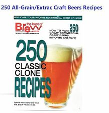 250 Homebrew All Grain Extract Classic Clone Recipes Book of Commercial Beers