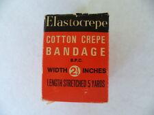 antique vintage medical Elastocrepe bandage in box old home medicine chest item