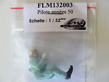Le Mans Miniatura Figura del conductor 50's pilote Annees flm132003 1:32 Slot BNIB