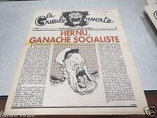 LA GUEULE OUVERTE N° 126 6 octobre 1976  Couverture CABU ARMEE HERNU *