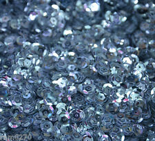 SILVER GREY SEQUINS C8 6mm PVC 10gram / 0.35oz BAG (approx 1200pcs) Sewing Craft