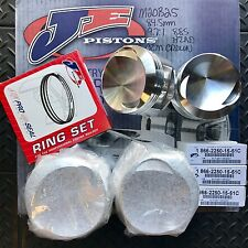 JE Piston Set BMW M20B25 84.5mm x 9.7:1 OEM Crown Style. IN STOCK TO SHIP TODAY