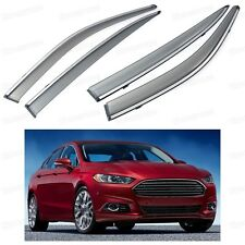 Front & Rear Window Deflectors Visor Vent Shade for Ford Fusion Mondeo 2013-2015