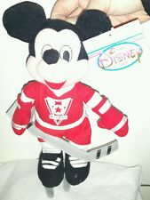 HOCKEY MICKEY MOUSE PLUSH DISNEY STORE - 25Cm. Pupazzo Peluche Toy Topolino