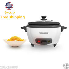 BLACK+DECKER RC506 6-Cup Cooked/3-Cup Uncooked Rice Cooker and Food Steamer, Whi