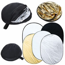 HWASTUDIO ®  5in1 Collapsible 100*150cm Lighting Diffuser Reflector Disc+Bag