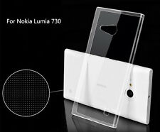 Ultra Thin Soft TPU Gel Silicone Clear Crystal Case Cover Fr Nokia Lumia 730 735
