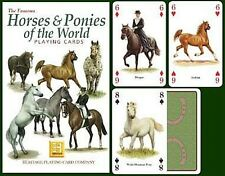 Horses & Ponies of The World set of 52 playing cards + jokers (hpc)