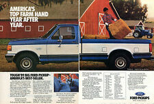 1988 Ad For 1989 Ford F150 Lariat Farm Pickup Truck 2 Page Print Ad