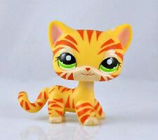 RARE little pet shop Loose cat LPS kot miniature tiger hair Cute Hasbro yellow