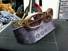 Authentic ELLE Mauve Sunglasses open-worked geometric accent at the temple