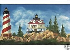 Lighthouse on a Stormy Day Wallpaper Border WT1122B