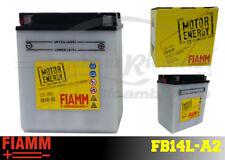 FB14L-A2 BATTERIA MOTO FIAMM MOTOR ENERGY YUASA YB14L-A2 14 Ah 150A  + LIQUIDO