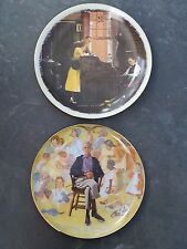 Norman Rockwell 1976 Saturday Evening Post & Remembered 1979 Gorham Plate's