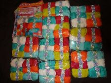 Job lot of 10 packs ( 60 balls ) of wool plus baby crochet magazine