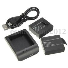 2xReplacement Batterie+Micro USB Caricabatterie Charger Per SJ4000 SJ5000 camera