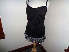 NEW Black White Swim Dress Swimsuit One Piece Size 22W 24 & Ocean