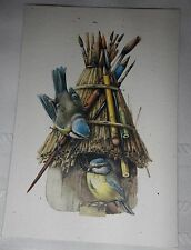 VINTAGE HALLMARK 1993 MARJOLEIN BASTIN BIRDS BIRDHOUSE FRIENDSHIP GREETING CARD