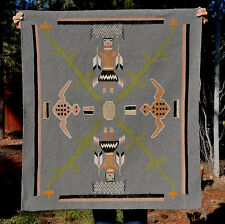 "VINTAGE NAVAJO SANDPAINTING RUG - MINT CONDITION - 40"" BY 36"""