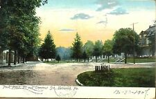 Antique 1907 UBPC Postcard Park Place 5th and Chestnut Lebanon Pa