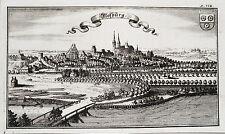 Moosburg Isar Bayern echter alter Ertl Kupferstich der Erstausgabe 1687