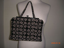 AUTHENTIC**CHANEL**FABRIC PATTERNED HANDBAG BLACK/BEIGE