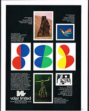 1975 Vintage Leon Polk Smith & Laszlo Ispanky Art Volair Publishers Print AD