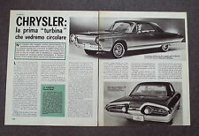 AB85 - Clipping-Ritaglio - 1963 - AUTONOTIZIE CHRYSLER TURBINE