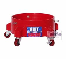 Grit Guard Detailing Bucket Dolly in RED - Strong & Durable with 5 Castors